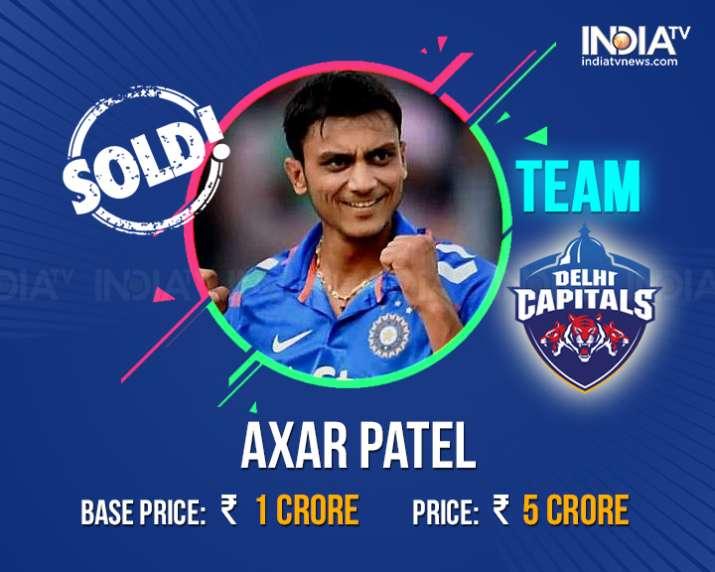 India Tv - Axar Patel sold to Delhi Daredevils