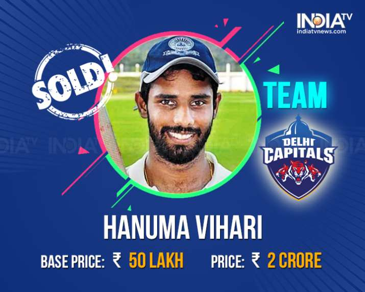 India Tv - Hanuma Vihari sold to Delhi for Rs. 2 Crore