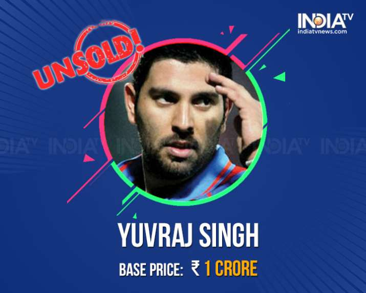 India Tv - Yuvraj Singh goes unsold at the IPL