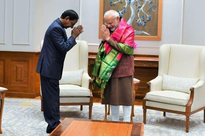 KCR meets PM Modi in New Delhi
