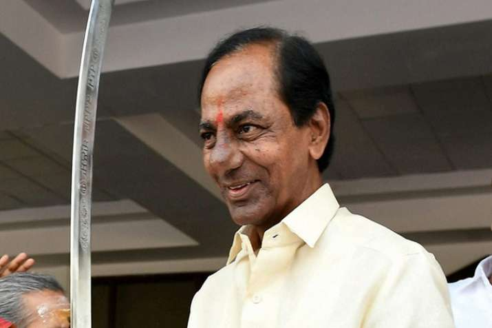 India Tv - Resigning from the TDP in 2001, KCR formed the TRS, a regional party with the aim to make an independent Telangana state.