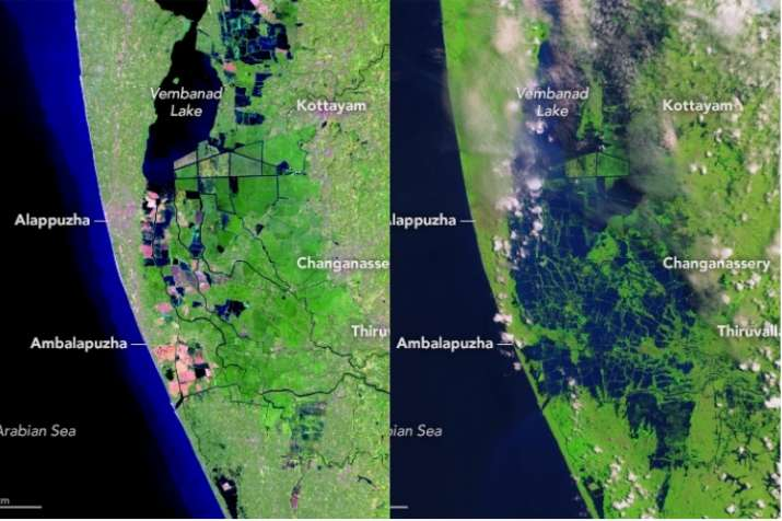 India Tv - Kerala floods, worst since 1924, killed over 400 people.