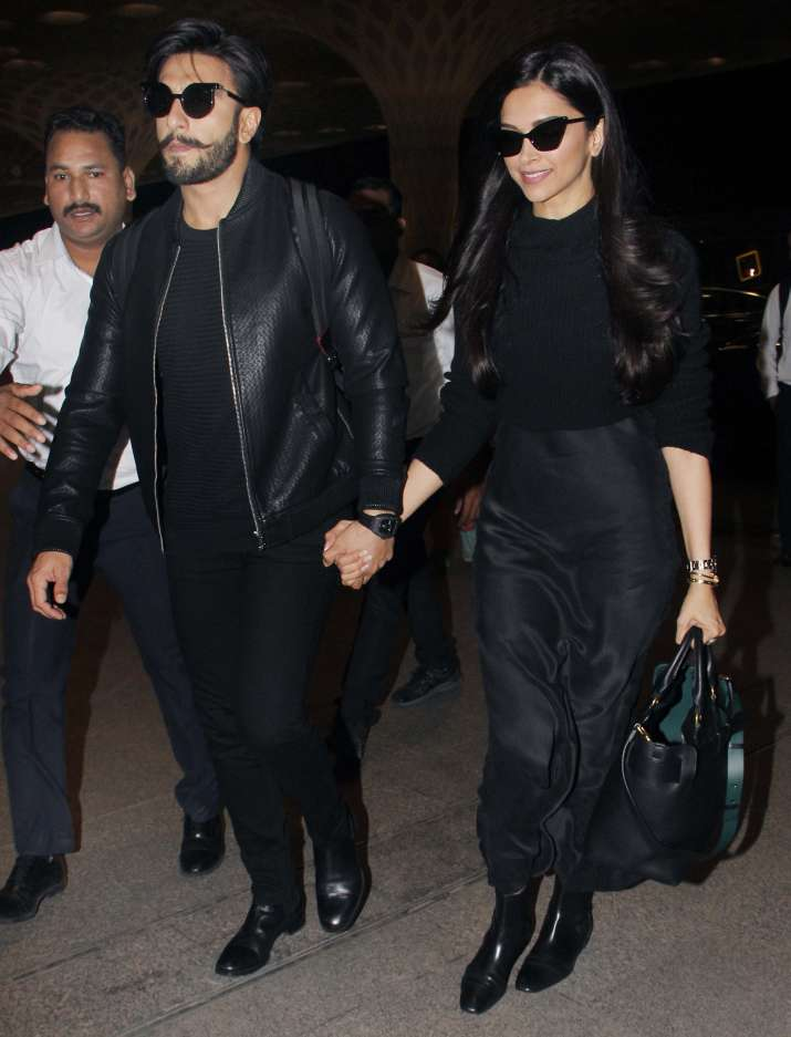 India Tv - Deepika Padukone and Ranveer Singh leave for New York