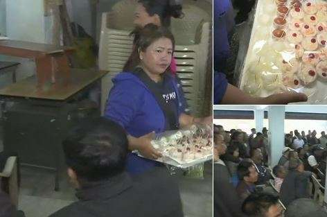 India Tv - Mizoram Assembly election results LIVE Updates, Sweets being distributed at Mizo National Front office (MNF) as the party leads in trends in Mizoram.