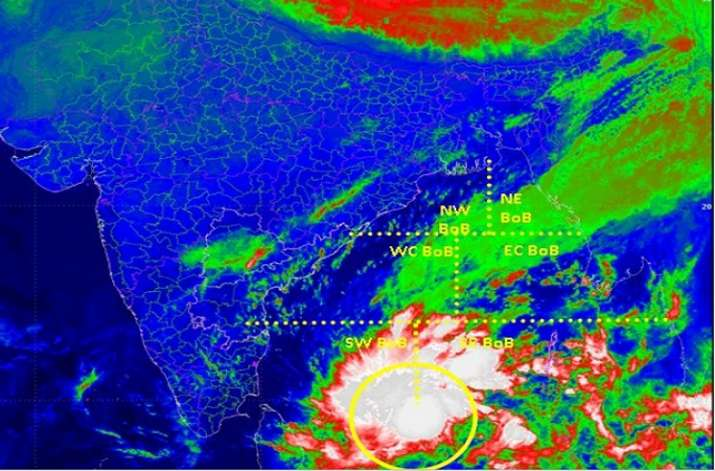 Cyclone Phethai is the third cyclone in the northeast