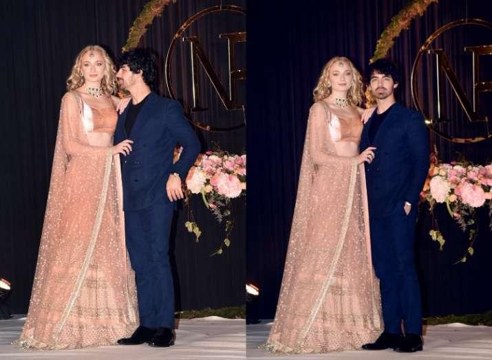 India Tv - Sophie Turner and Joe Jonas atPriyanka Chopra and Nick Jonas' Delhi reception