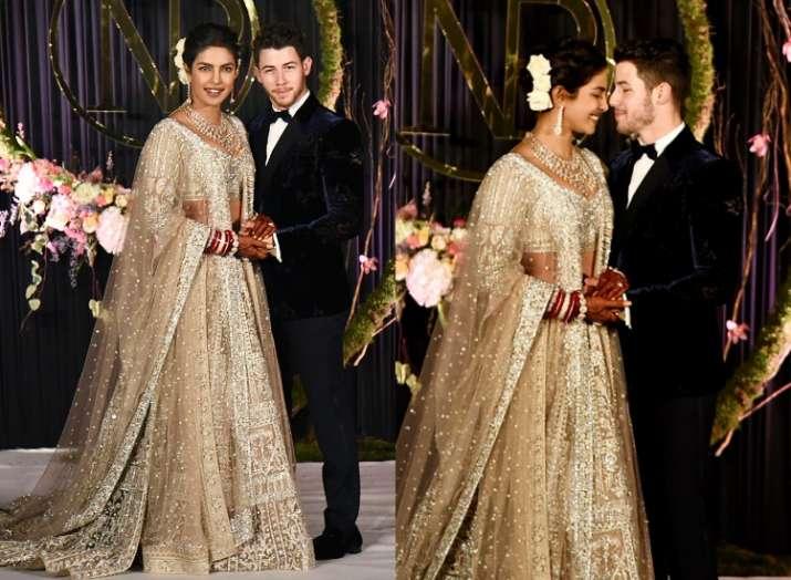 India Tv - Priyanka Chopra and Nick Jonas at their Delhi reception
