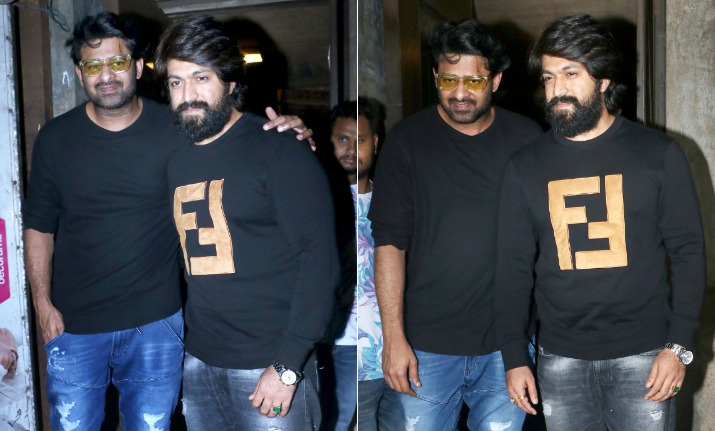 Kgf Star Yash Spotted With Baahubali Prabhas In Mumbai See Pics