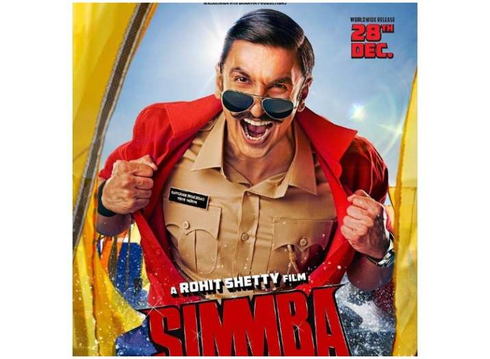 Simmba new poster: Ranveer Singh as cop Sangram Bhalerao