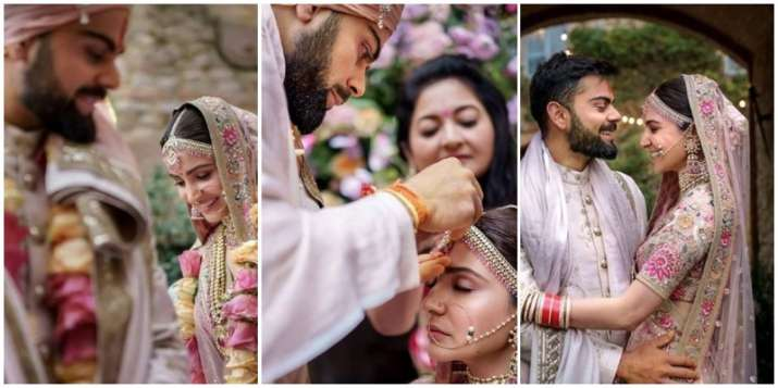 Virat Kohli Wedding.Anushka Sharma Virat Kohli Share Heart Melting Photos Videos On