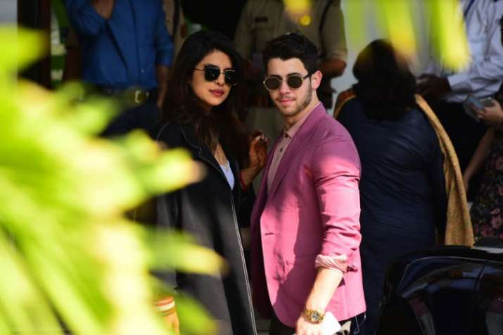 Priyanka Chopra and Nick Jonas at Mumbai airport