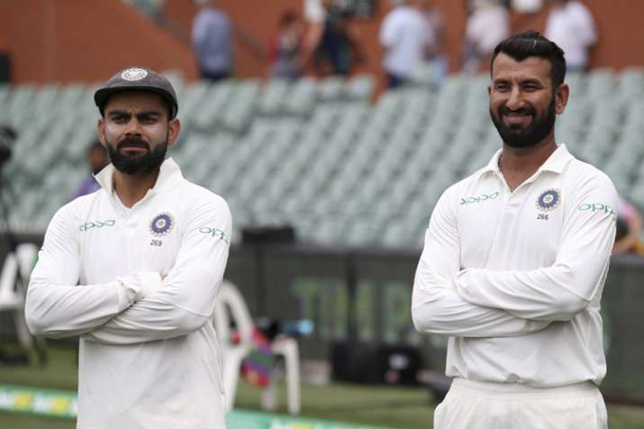 India Tv - Cheteshwar Pujara was adjudged man-of-the-match for scoring 194 runs in the Test match
