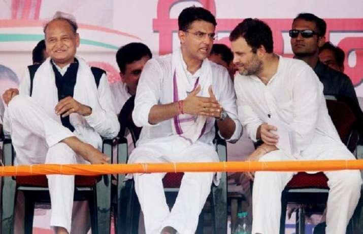 India Tv - Rajasthan, Madhya Pradesh CM Sachin Pilot, Rahul Gandhi, Ashok Gehlot