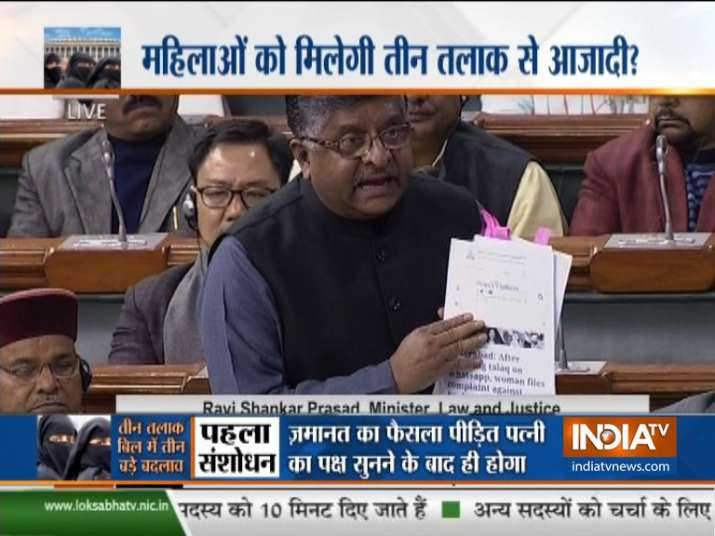 Lok Sabha passes triple talaq bill criminalising practice of