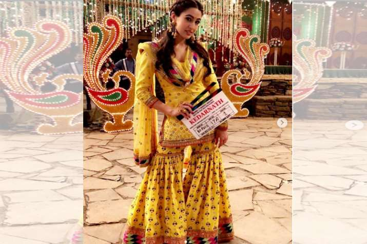 India Tv - Sara Ali Khan in behind the scene pics of Kedarnath