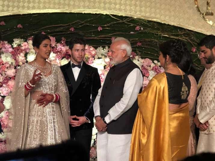 India Tv - PM Narendra Modi at Priyanka Chopra and Nick Jonas' Delhi reception