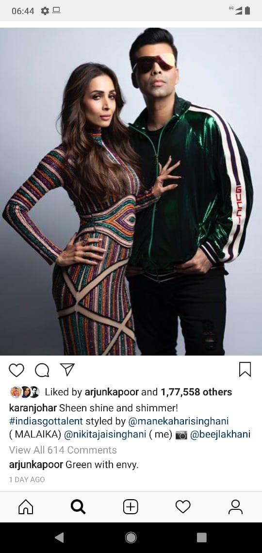 India Tv - Arjun Kapoor's comment on Karan Johar's Insta picture
