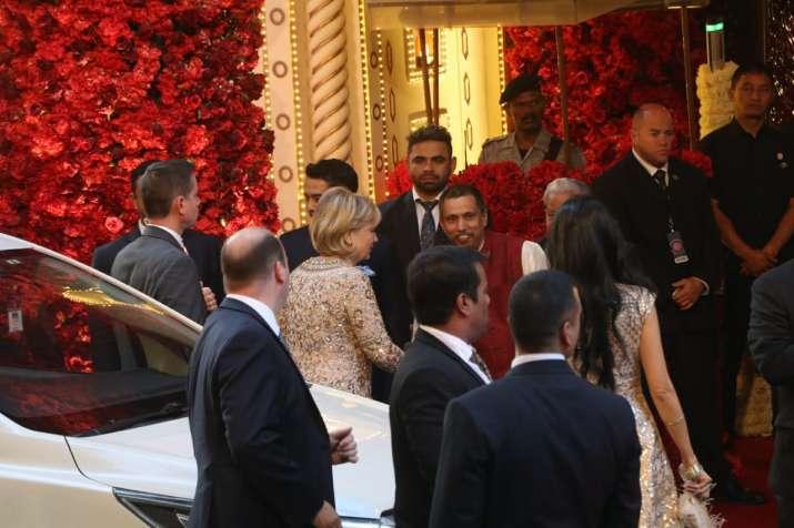 India Tv - Hillary Clinton arrives atIsha Ambani, Anand Piramal Wedding