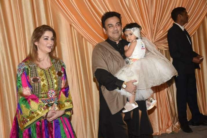 India Tv - Adnan Sami and family