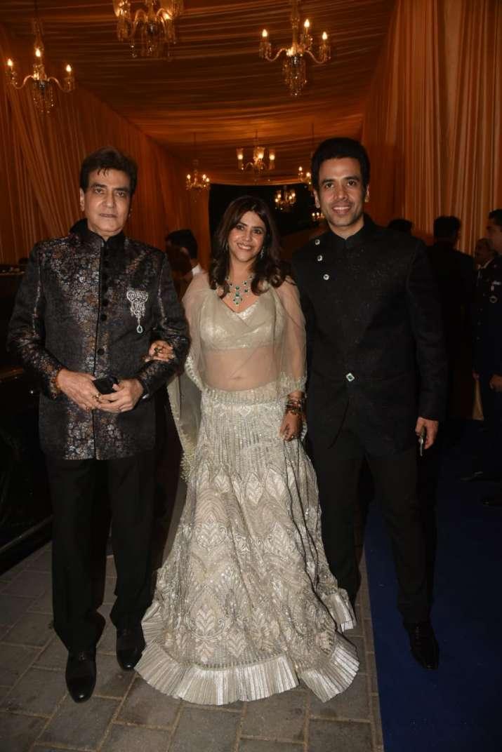 India Tv - Jeetendra with Ekta and Tusshar Kapoor
