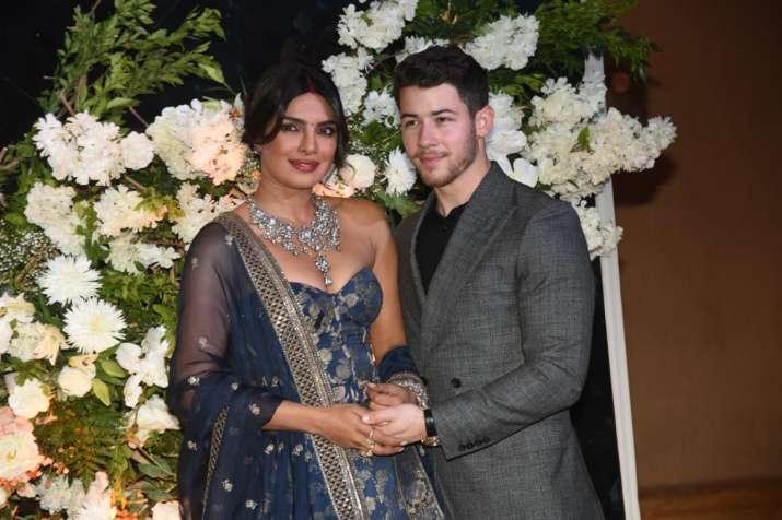 India Tv - Priyanka Chopra, Nick Jonas at their Mumbai reception