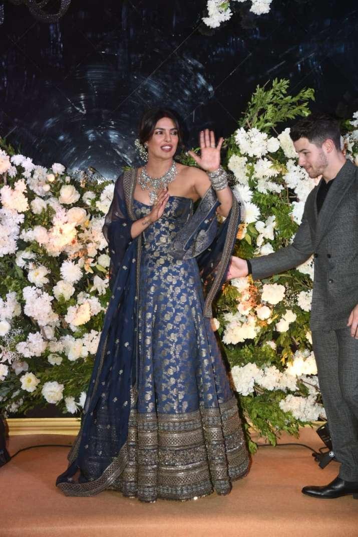 India Tv - Priyanka Chopra in Sabyasachi lehenga