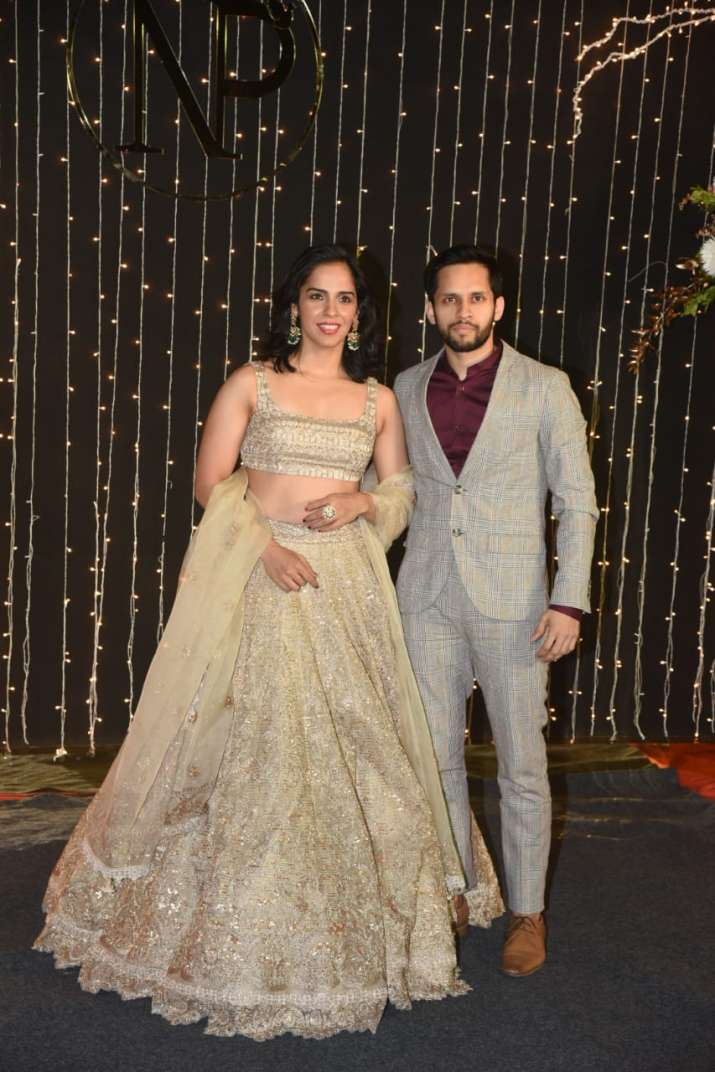 India Tv - Saina Nehwal with husband Parupalli Kashyap