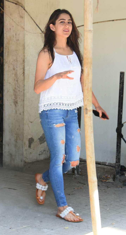 India Tv - Sara Ali Khan in white top and denims