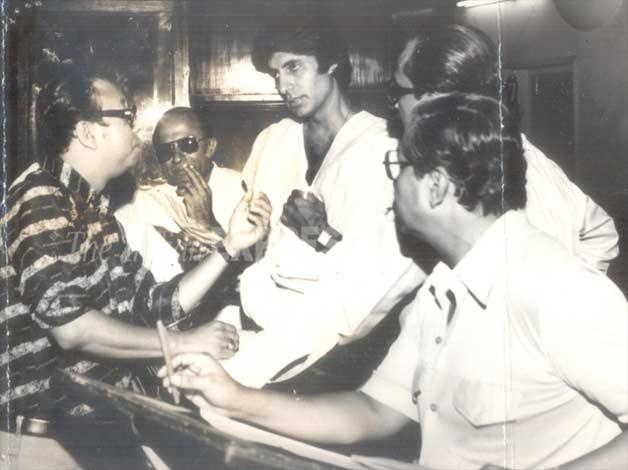 India Tv - RD Burman along with superstar Amitabh Bachchan