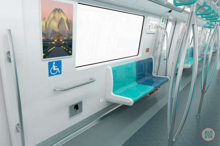India Tv - Similar to the Delhi Metro, there would be different seats for ladies in the Noida Metro. Seats reserved for women, senior citizens and differently abled persons would have different colours.