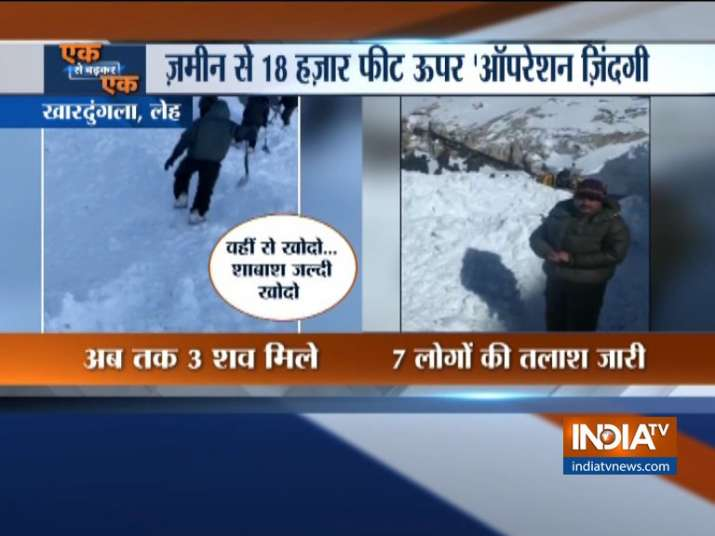 3 dead, 7 trapped under snow after avalanche hits Ladakh