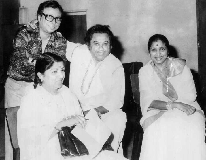India Tv - Pancham Da with Kishore Kumar, Lata Mangeshkar and Asha Bhonsle