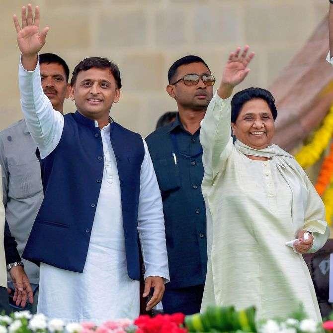 Samajwadi Party leader Akhilesh Yadav and Bahujan Samaj