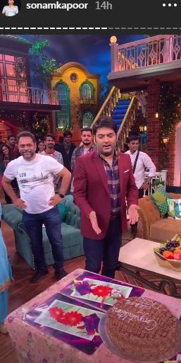 India Tv - Kapil Sharma cutting the cake with ELKDTAL team