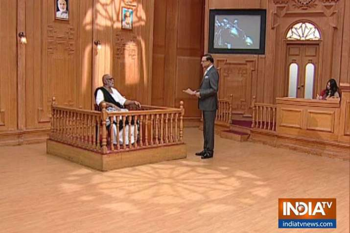 Morari Bapu in Aap Ki Adalat with Rajat Sharma