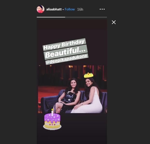 Deepika Padukones Sweet Reply To Alia Bhatts Beautiful Birthday