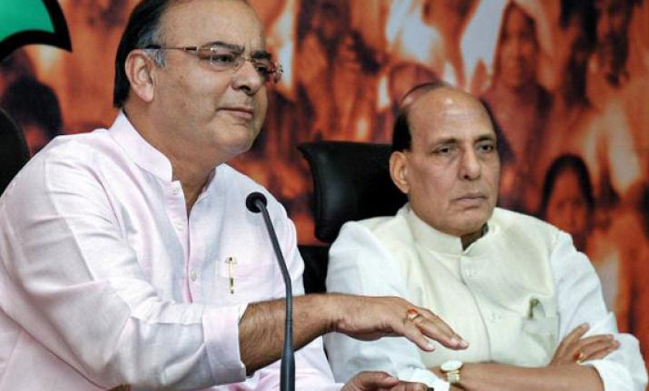 Union Ministers Arun Jaitley and Rajnath Singh