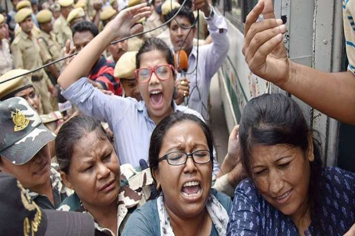 Protest in Assam.