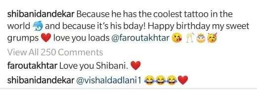 India Tv - Farhan Akhtar's comment on Shibani's birthday wish