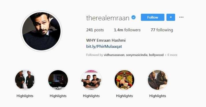 India Tv - Emraan Hashmi adds 'Why' to his name on social media