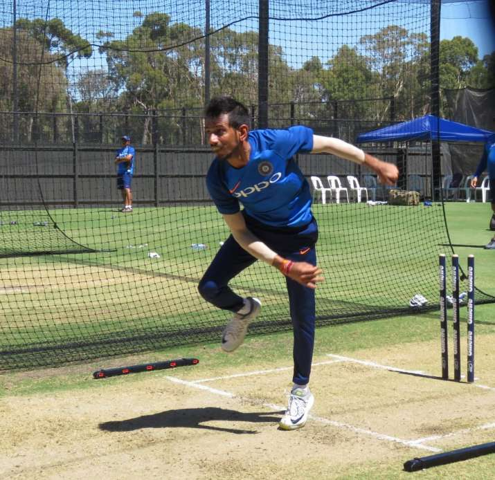 India Tv - YuzvendraChahal, who wasn't part of the first ODI, decided roll his arm over.