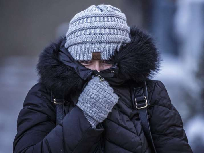 Polar vortex, a weather anomaly, has induced bitter cold in