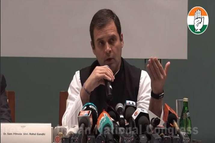 Addressing a gathering in Dubai, the Congress scion said;