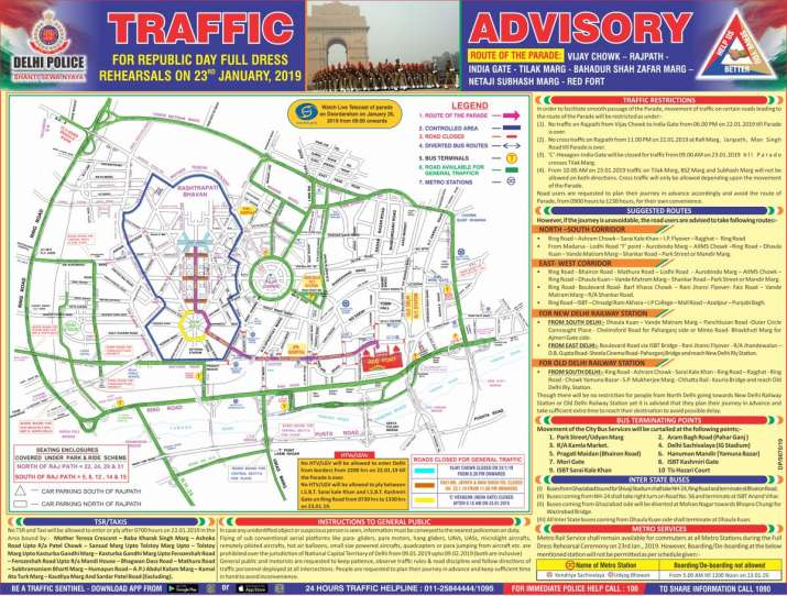 India Tv - Republic Day Parade: Full dress rehearsal on Wednesday, check traffic restrictions before leaving home