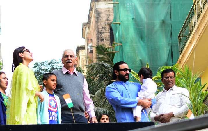 India Tv - Taimur Ali Khan with mom Kareena and dad Saif