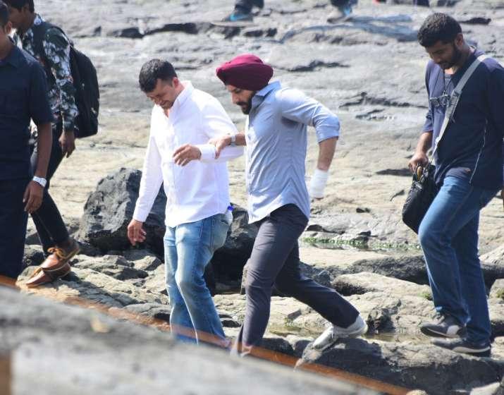 India Tv - Saif Ali Khan on the sets of Sacred Games 2