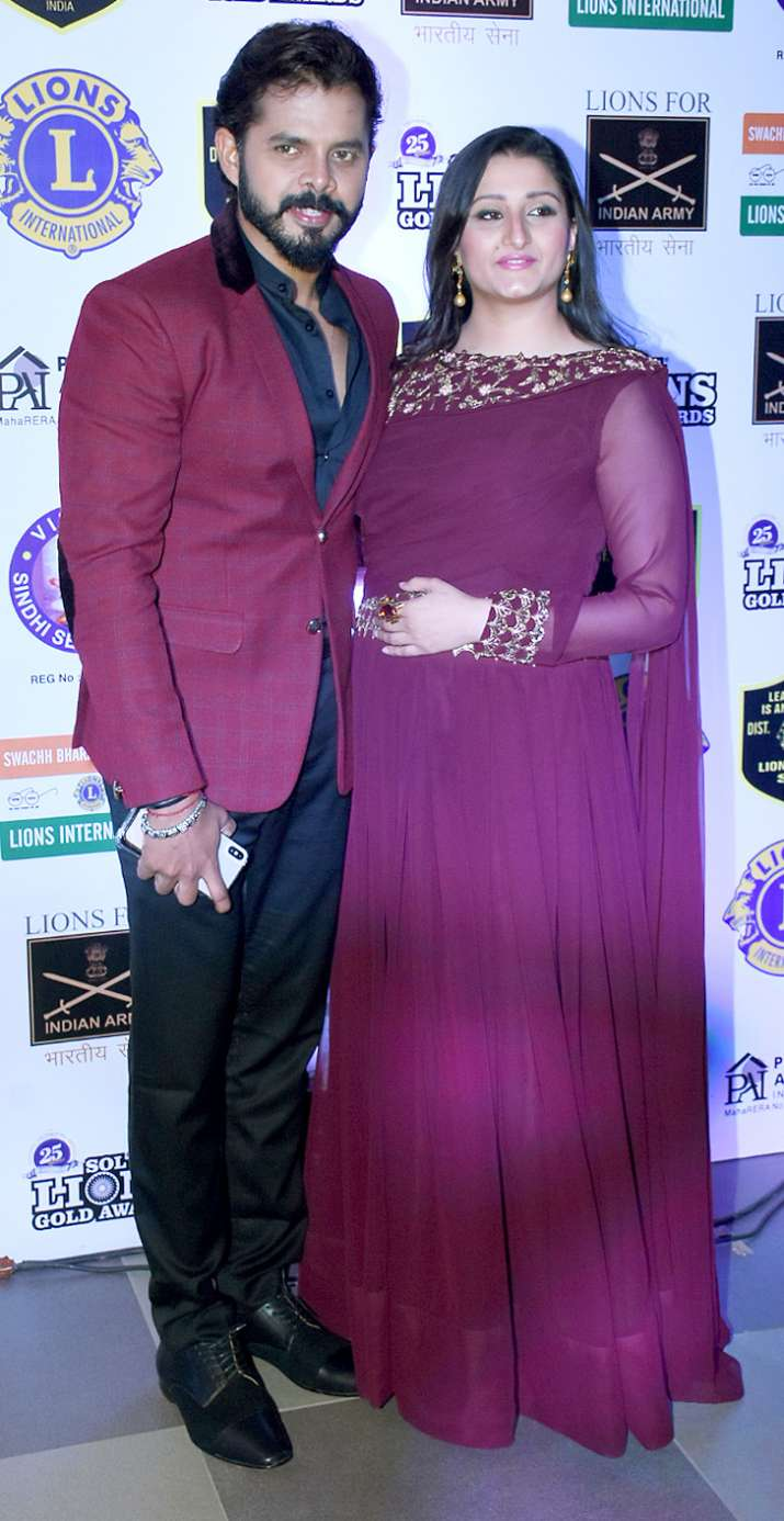 India Tv - Sreesanth with his wife
