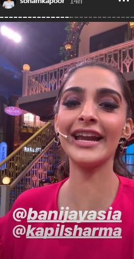 India Tv - Sonam Kapoor on TKSS sets