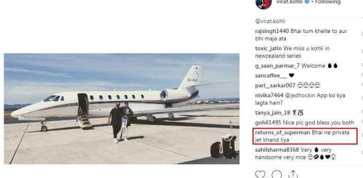 India Tv - Does Virat Kohli own a private jet?