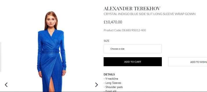 India Tv - Alexander Terekhov's Indigo Blue Side Slit Wrap Dresss